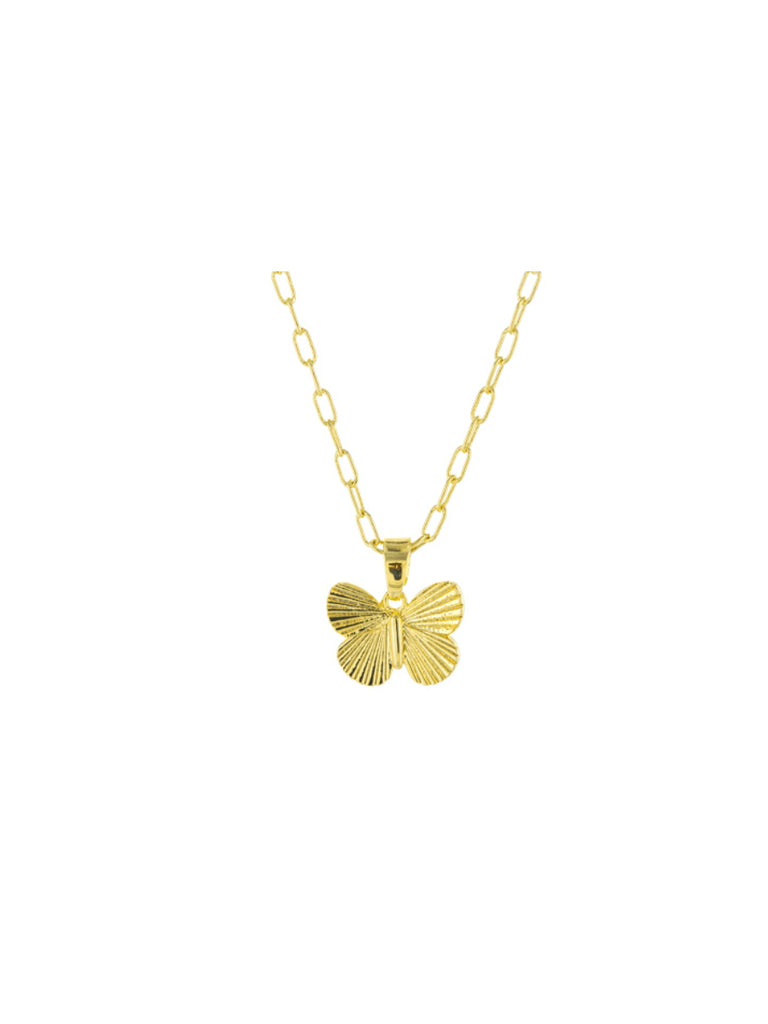 Golden Butterfly Pendant Necklace | Gold Plated Chain | Light Years