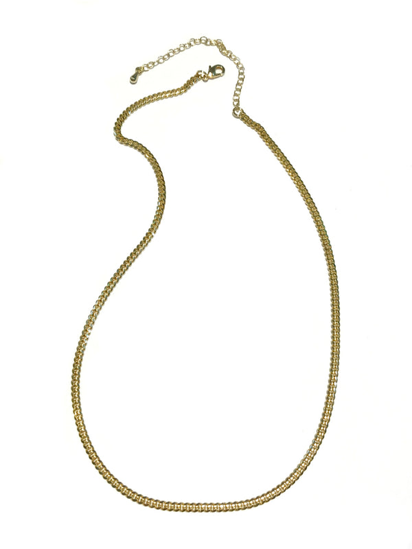 "Gold Plated Cuban Chain Necklace | 16"" 18"" 