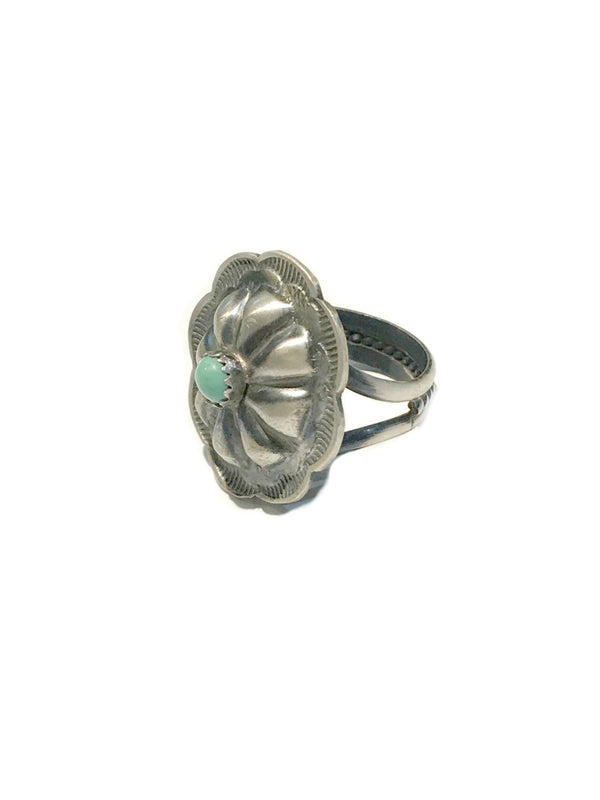 Navajo Concho Ring | Tim Yazzie Sterling Silver Size 7 8 9 | Light Years