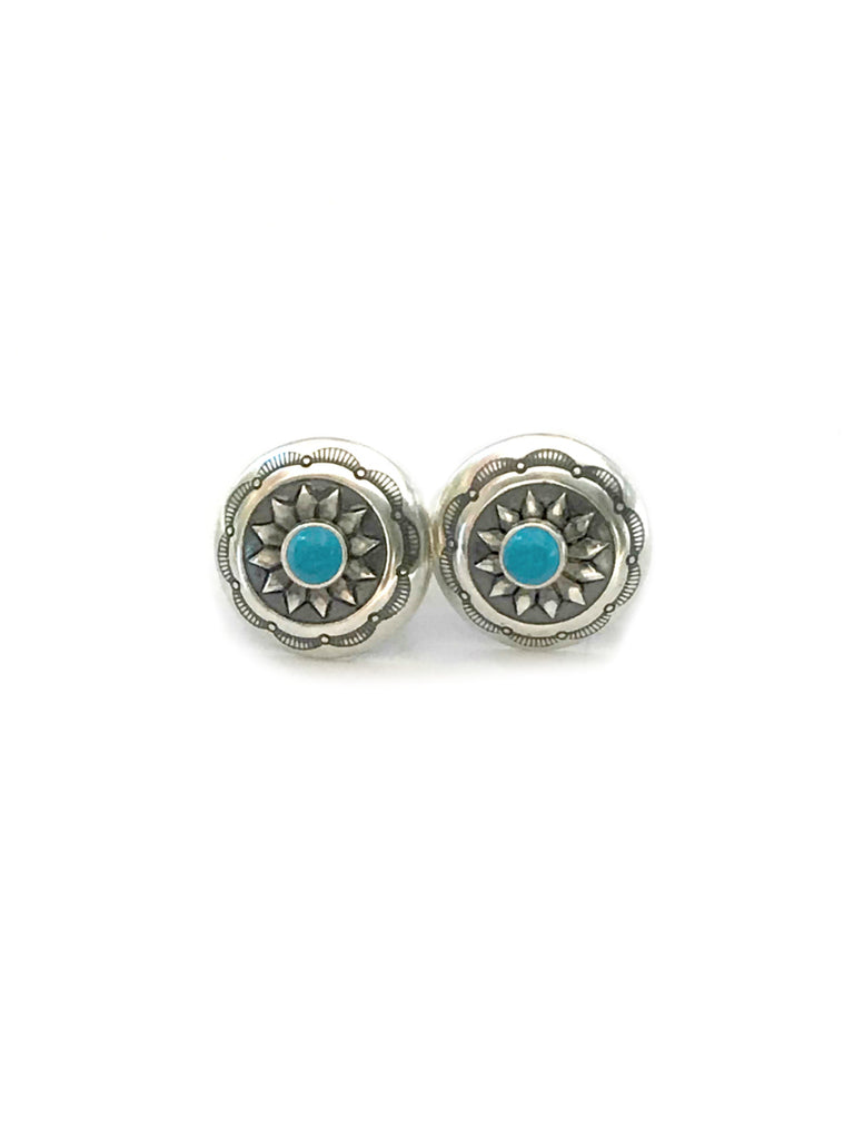 Navajo Turquoise Posts | Sterling Silver Studs Earrings | Light Years