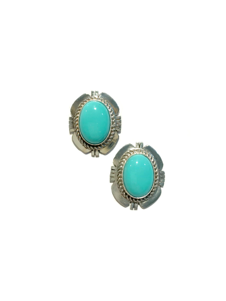 Navajo Turquoise Statement Posts | Sterling Silver Earrings | Light Years