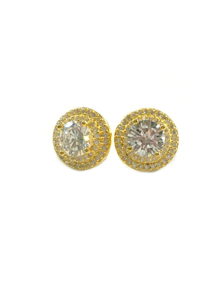 Large Cut CZ Posts | 14kt Gold Vermeil Studs Earrings | Light Years