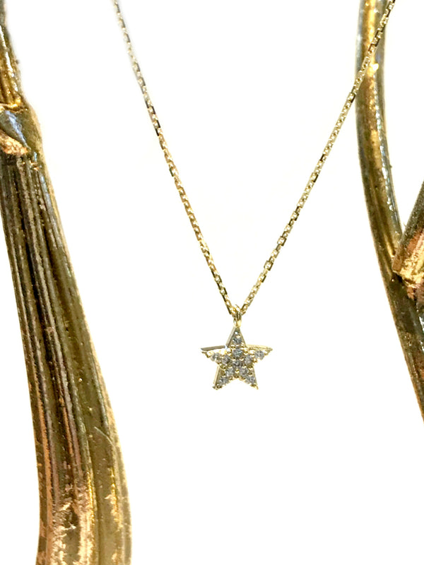 CZ Star Charm Necklace | Sterling Silver Gold Vermeil | Light Years