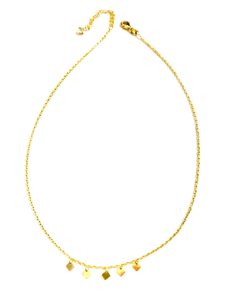 Dangling Diamonds Charm Necklace | 14kt Gold Vermeil Chain | Light Years