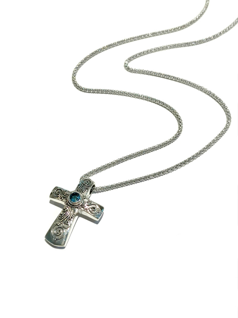 Cathedral Cross Necklace | Sterling Silver Pendant Chain | Light Years