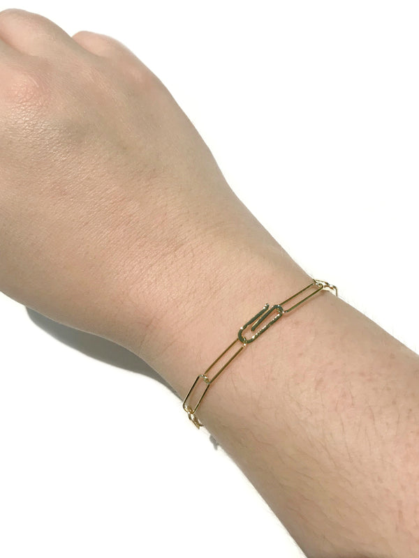 Paper Clip Chain Bracelet | Gold Plated Links | Light Years Jewelry