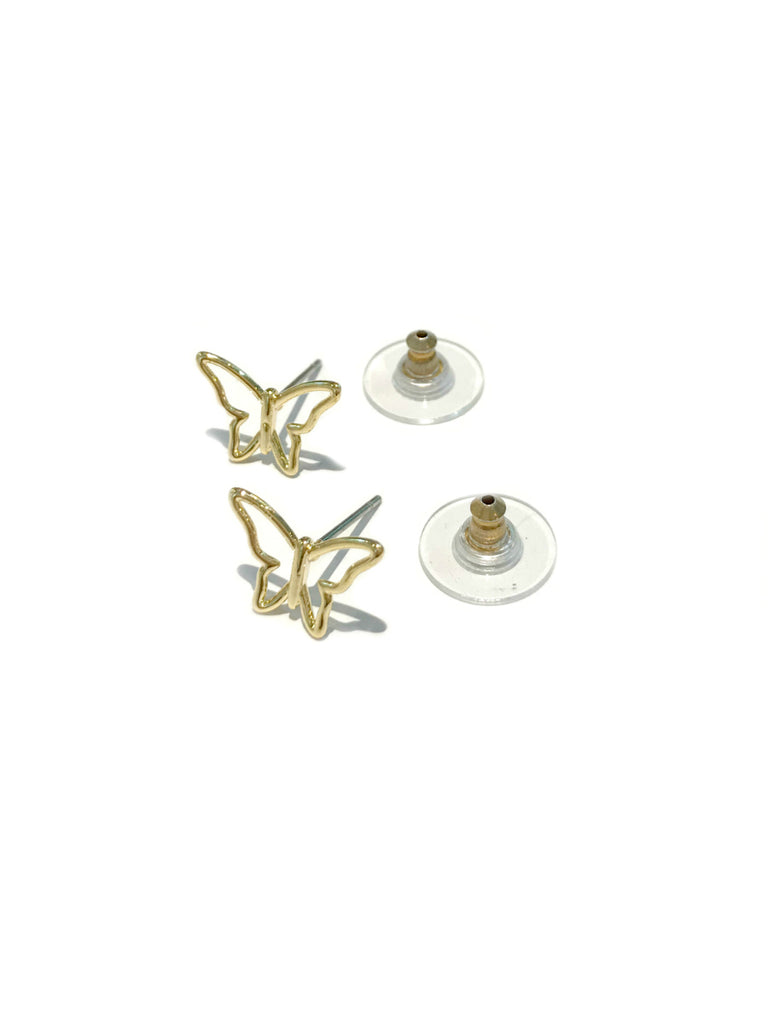 Open Butterfly Posts | Gold Plated Studs Earrings | Light Years Jewelry