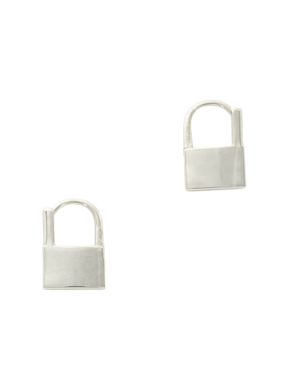 Padlock Huggie Hoops | Gold Silver Plated Earrings | Light Years Jewelry