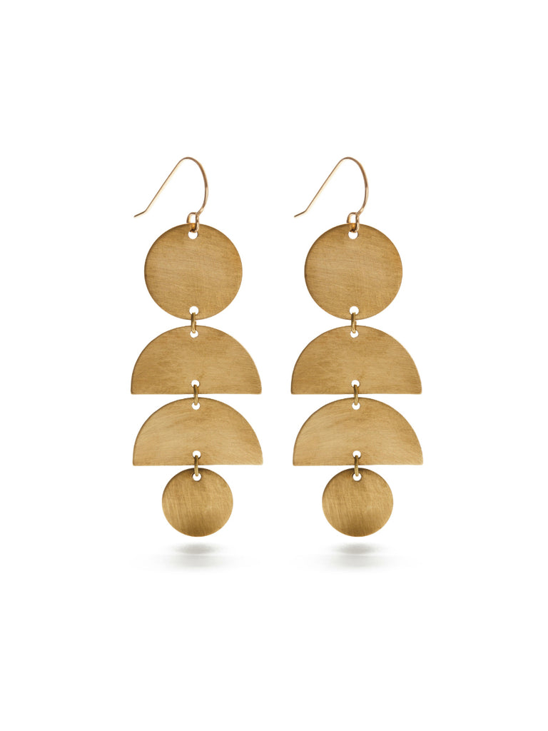 Half Moon Stacked Dangles | 14kt Gold Filled Earrings | Light Years
