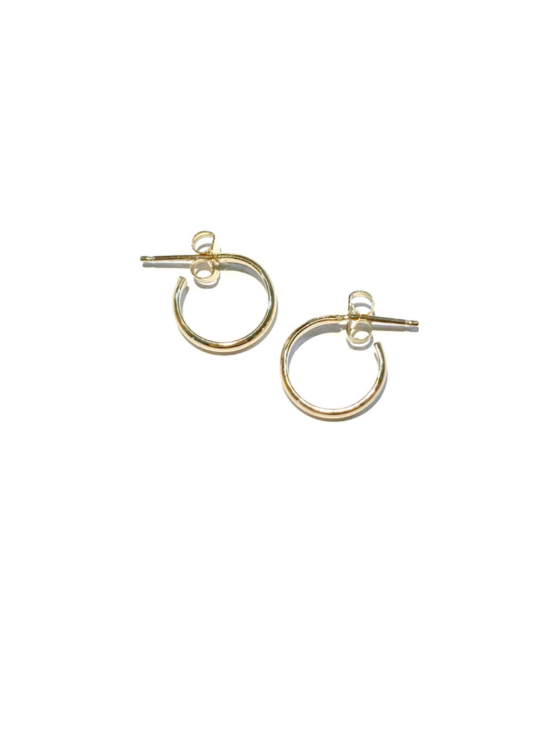 Classic Post Hoops | Sterling Silver Gold Filled Earrings | Light Years