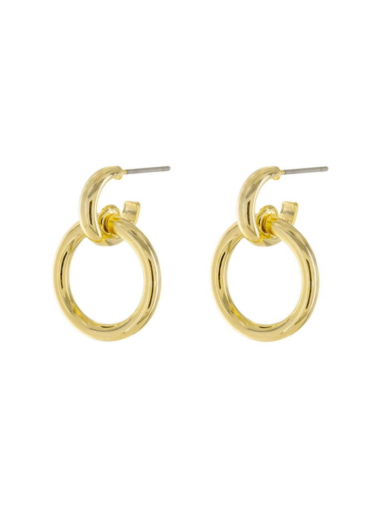 Linked Rings Posts | Gold Plated Fashion Earrings Studs | Light Years