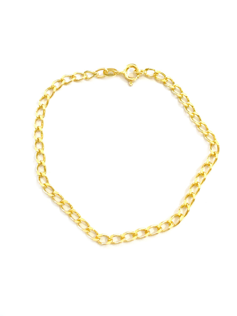 Curb Chain Link Bracelet | 14kt Gold Vermeil | Light Years Jewelry