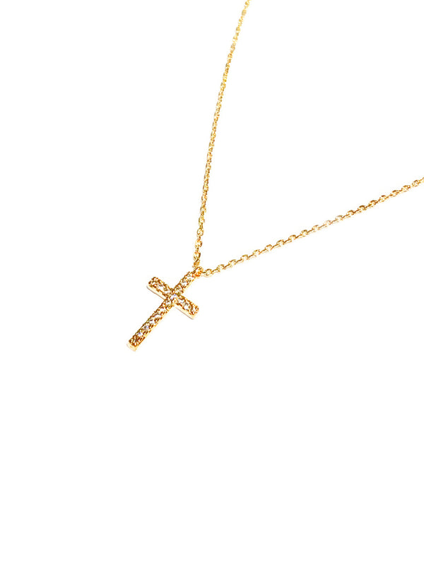 CZ Cross Necklace | Gold Plated Fashion Chain Pendant | Light Years