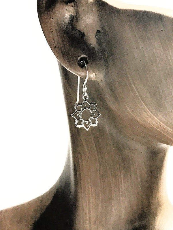 Cutout Flower Dangles | Sterling Silver Earrings | Light Years Jewelry