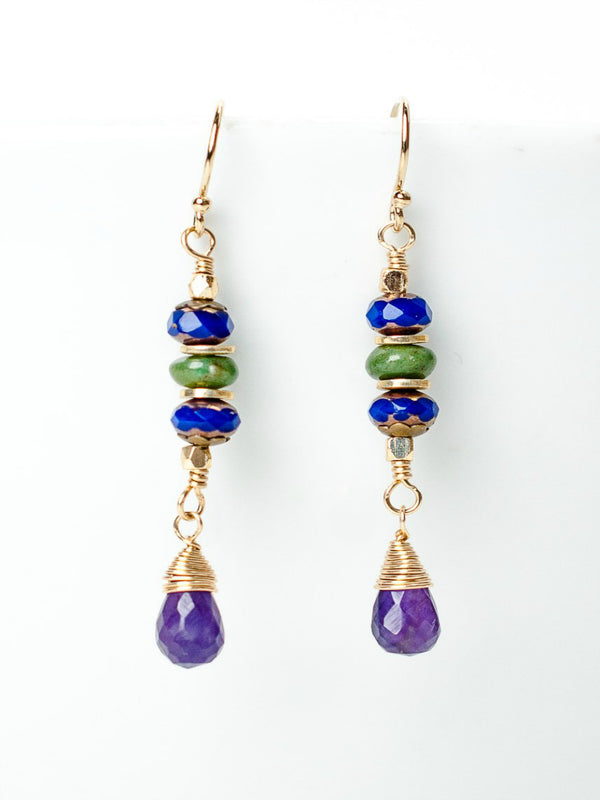 Carnival Amethyst Dangles | Handmade Earrings | Light Years Jewelry
