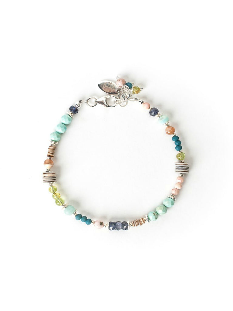 Fresh Air Beaded Gemstone Bracelet | Sterling Silver USA | Light Years