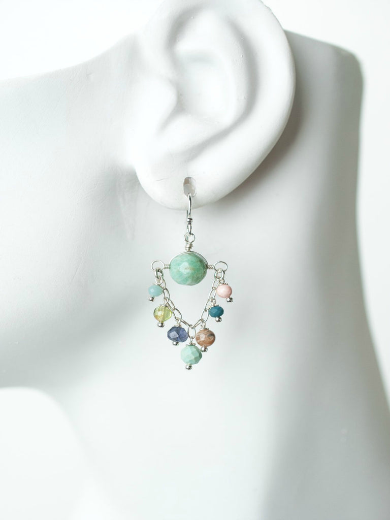 Fresh Air Gemstone Chandelier Dangles | Sterling Silver | Light Years