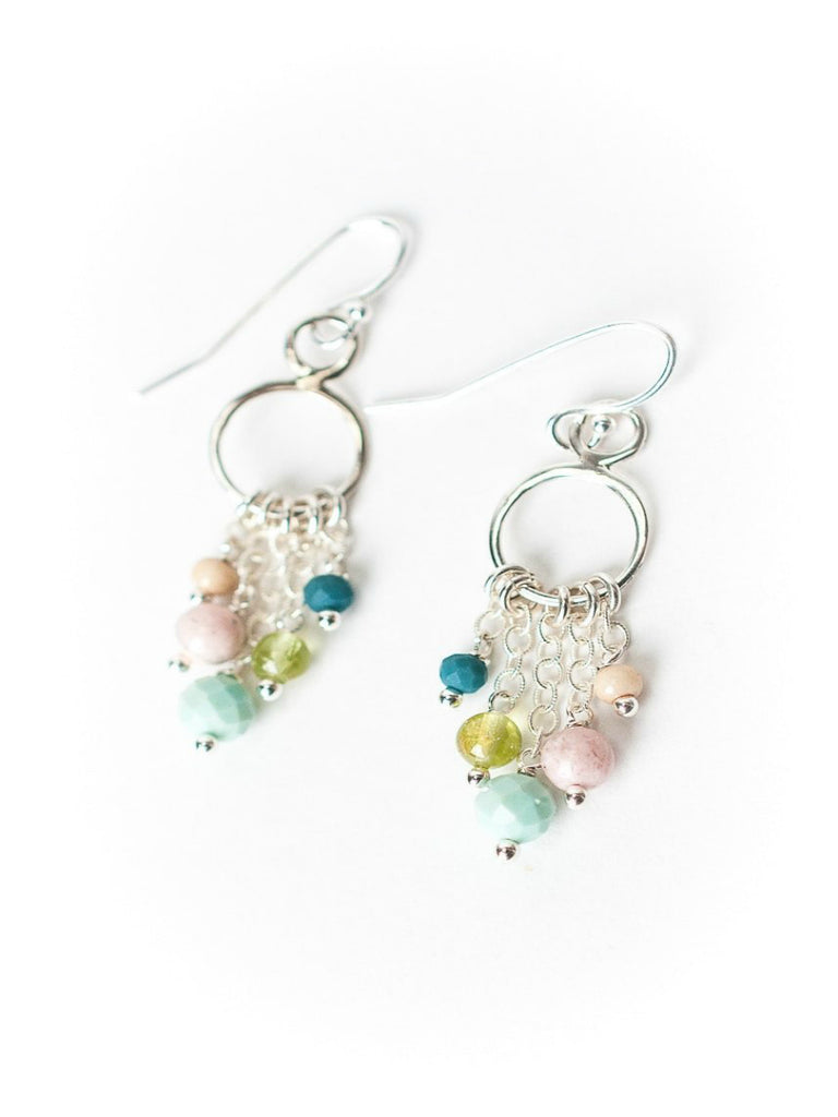 Fresh Air Ring Gemstone Dangles | Sterling Silver Earrings | Light Years