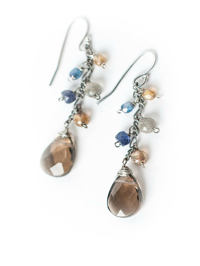Claridad Smokey Quartz Dangles | Handmade Earrings | Light Years Jewelry