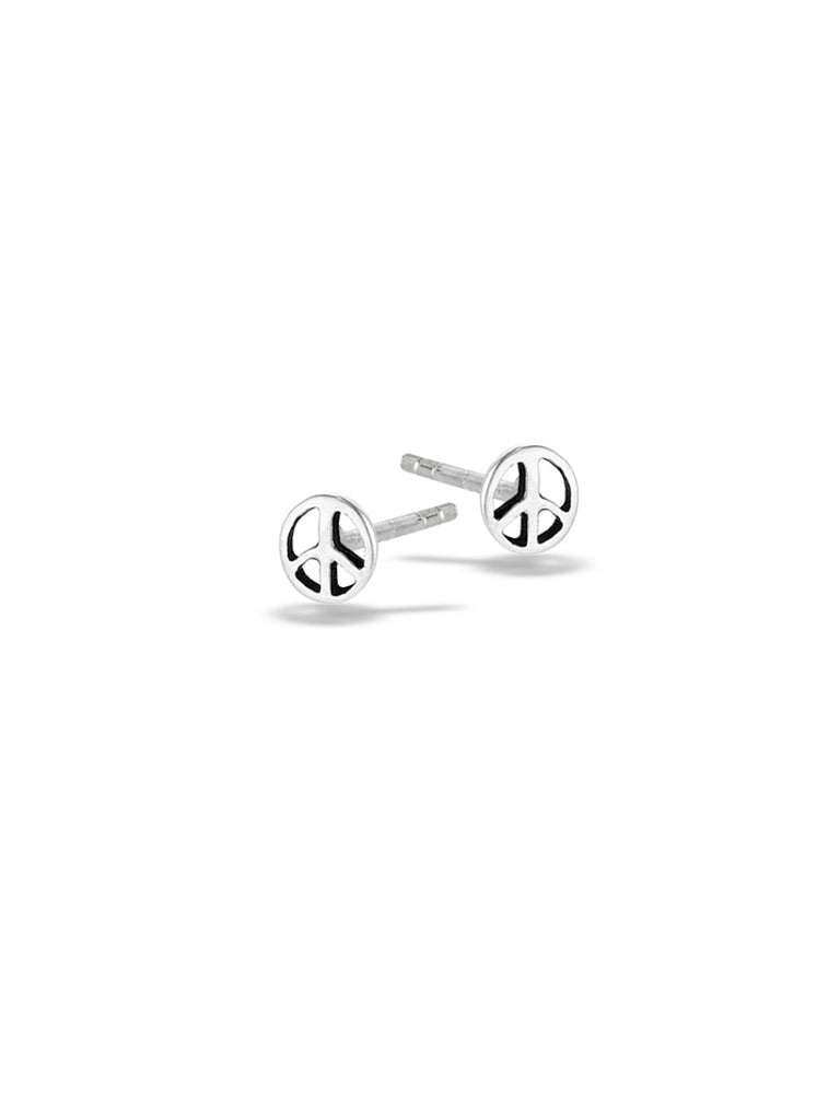 Little Peace Sign Posts | Sterling Silver Studs Earrings | Light Years