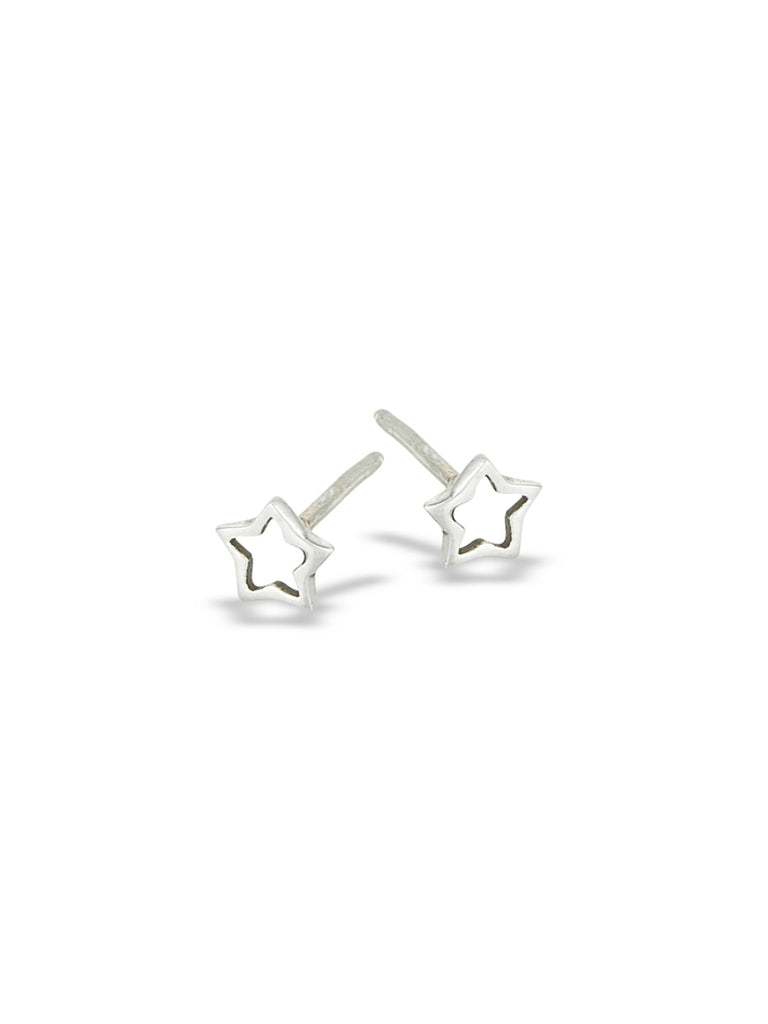 Stars Outline Posts | Sterling Silver Studs Earrings | Light Years