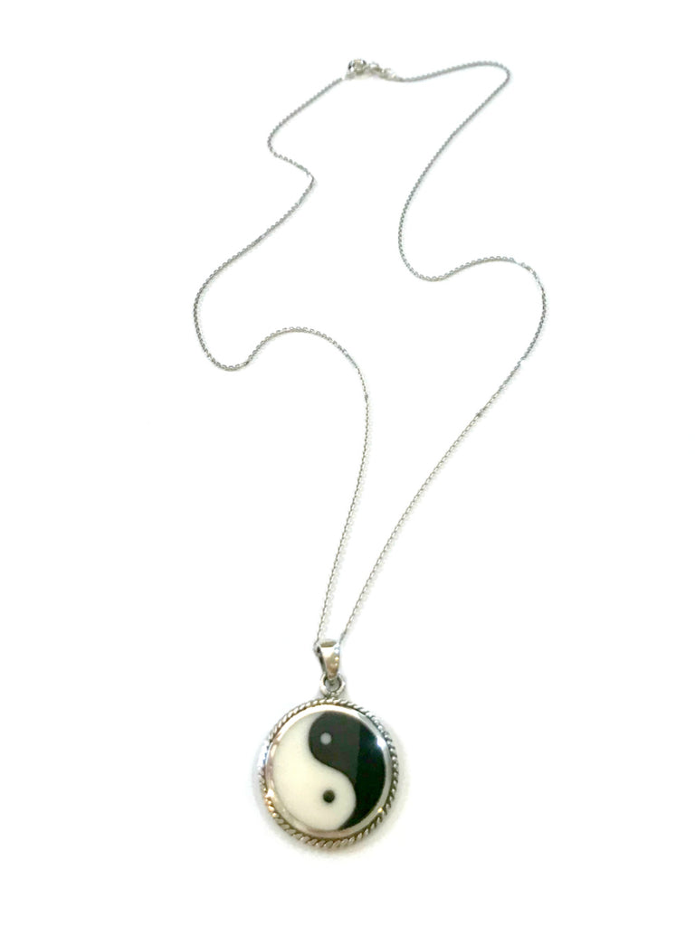 Yin Yang Pendant Necklace | Sterling Silver Chain | Light Years Jewelry