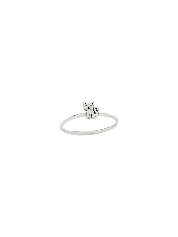 Little Kitty Cat Ring | Sterling Silver Size 7 8 | Light Years Jewelry