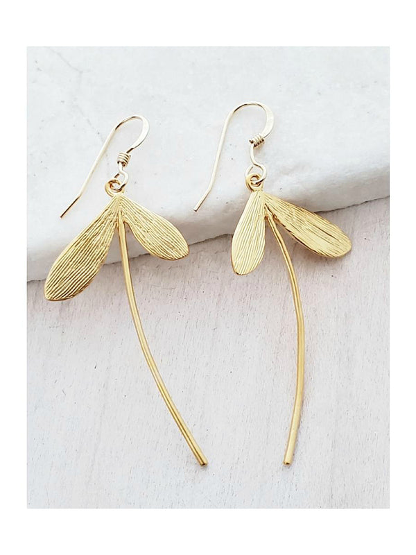 Maple Keys Statement Dangles | Gold Filled Plated Earrings | Light Years