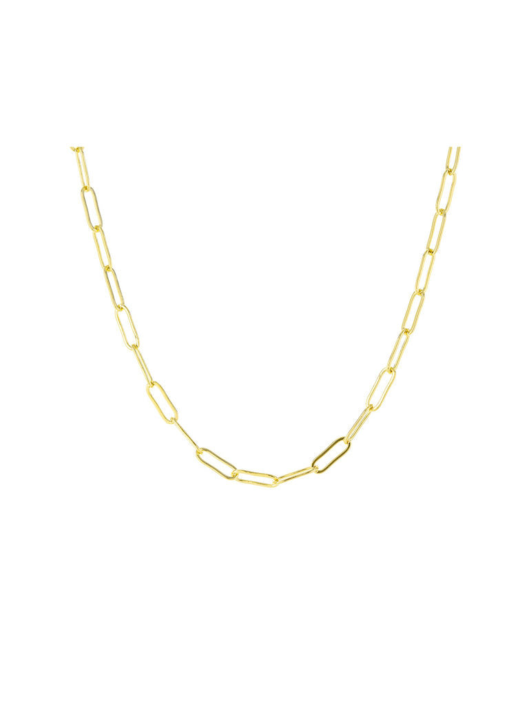 Open Link Choker Necklace | Gold Plated Chain | Light Years Jewelry
