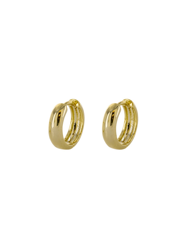Thick Huggie Hoops | Gold Silver Plated Earrings | Light Years Jewelry