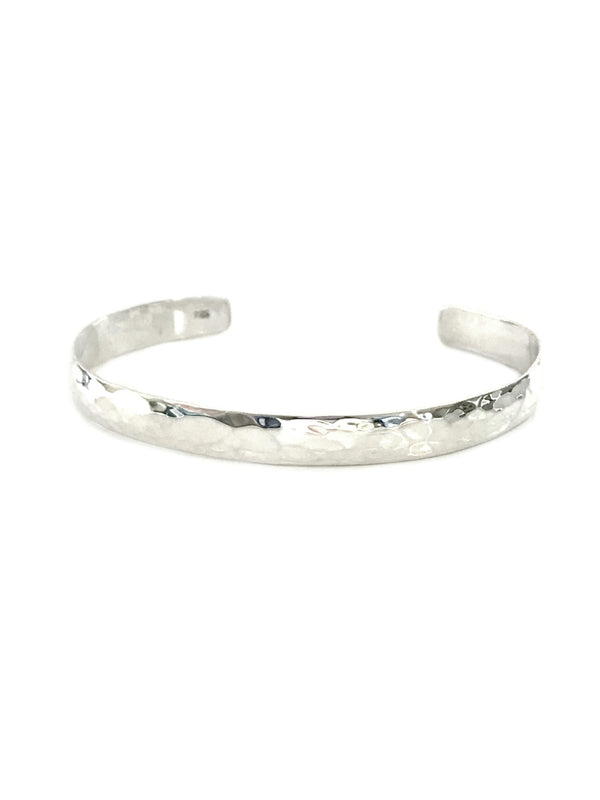 Classic Hammered Cuff Bracelet | Sterling Silver | Light Years Jewelry