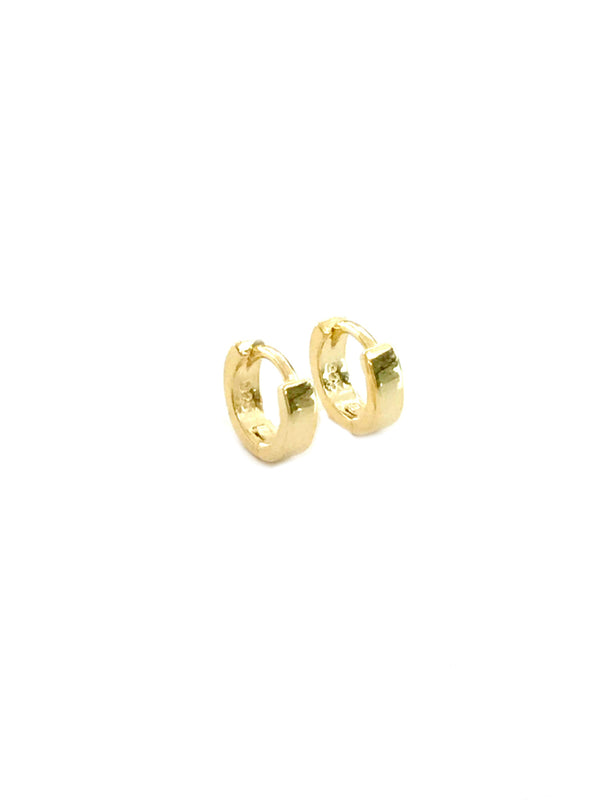 Small Thick Huggie Hoops | Sterling Silver Gold Vermeil | Light Years