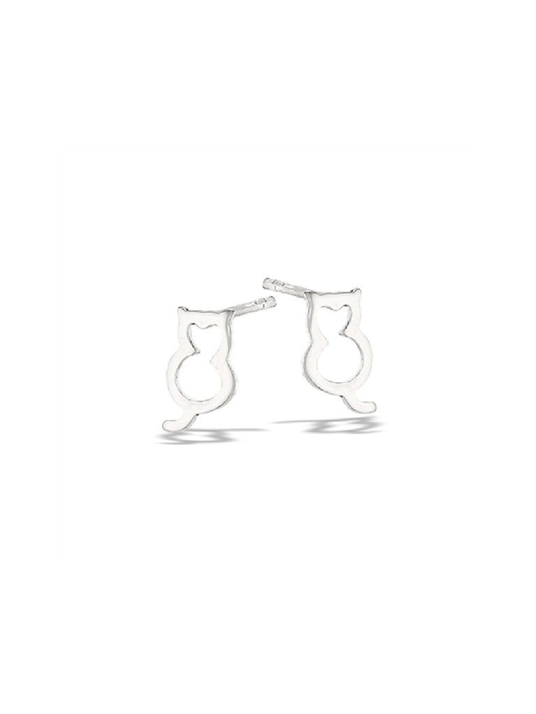 Sitting Kitty Cats Posts | Sterling Silver Studs Earrings | Light Years