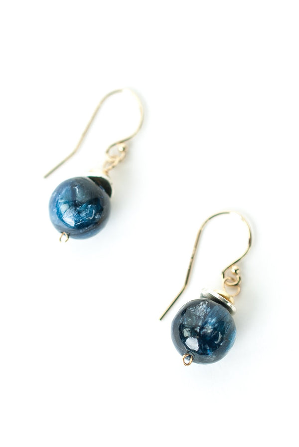 Kyanite Ball Dangles Anne Vaughan | Gold Filled Earrings | Light Years