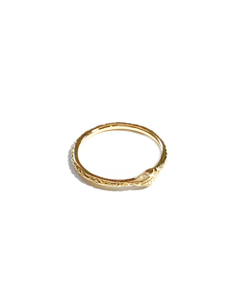 Ouroboros Snake Band Ring | Gold Vermeil Size 6 7 8 | Light Years Jewelry
