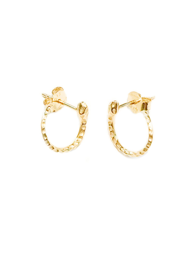 Curled Snake Post Earrings | Gold Vermeil Studs | Light Years Jewelry