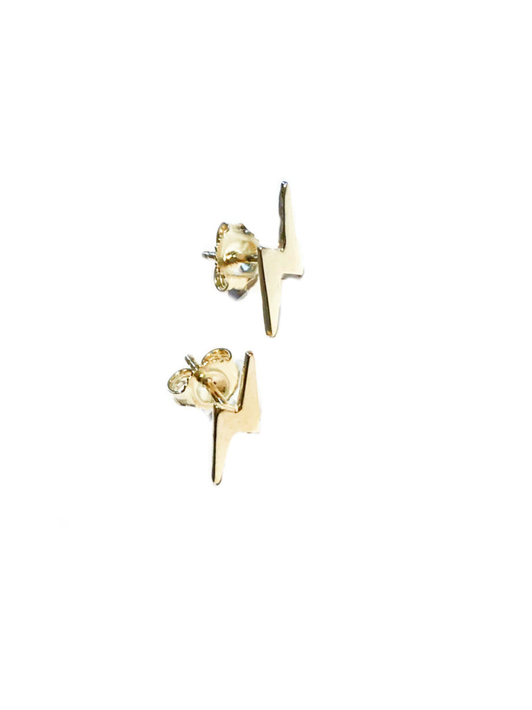Lightning Bolt Posts | Sterling Silver Gold Vermeil Studs | Light Years