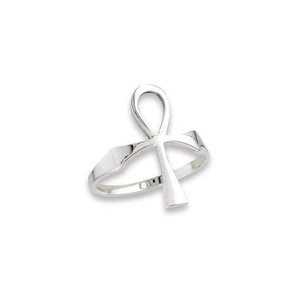 Classic Ankh Ring | Sterling Silver Band Size 6 7 8 9 10 | Light Years