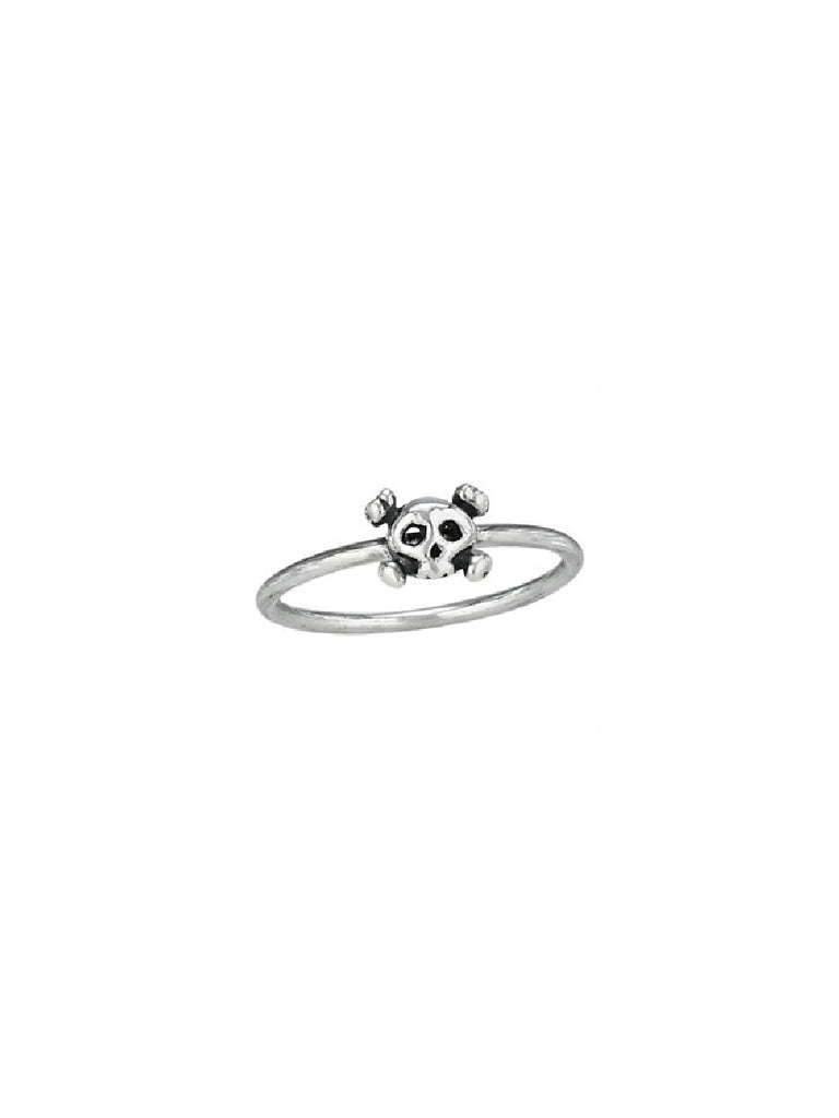 Skull & Crossbones Ring | Sterling Silver Sizes 6 7 8 9 | Light Years