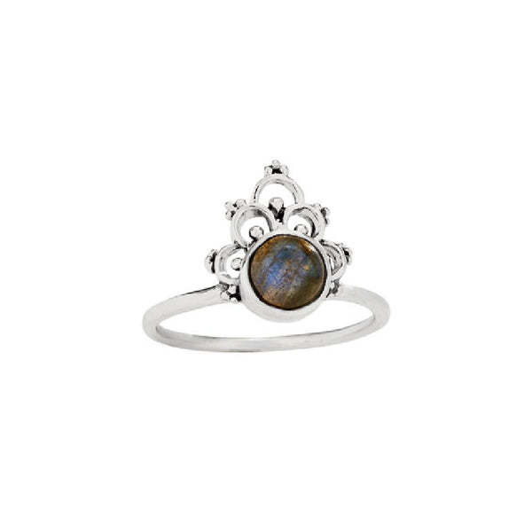 Scalloped Labradorite Ring | Sterling Silver Size 7 8 9 | Light Years