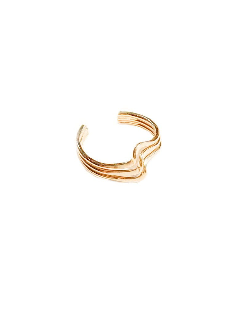Three Band Twist Ear Cuff | 14kt Gold Filled Earrings USA | Light Years