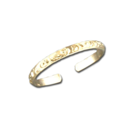 Etched Band Toe Ring | 14kt Gold Filled USA Made | Light Years Jewelry