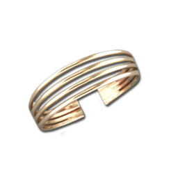 Four Band Toe Ring | 14kt Gold Filled USA Made | Light Years Jewelry