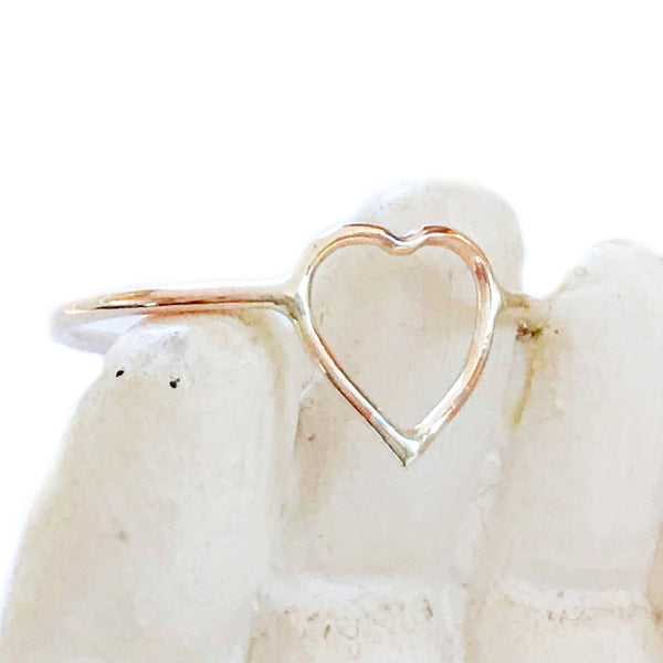 Heart Outline Ring | 14kt Gold Filled Size 5 6 7 8 9 10 | Light Years