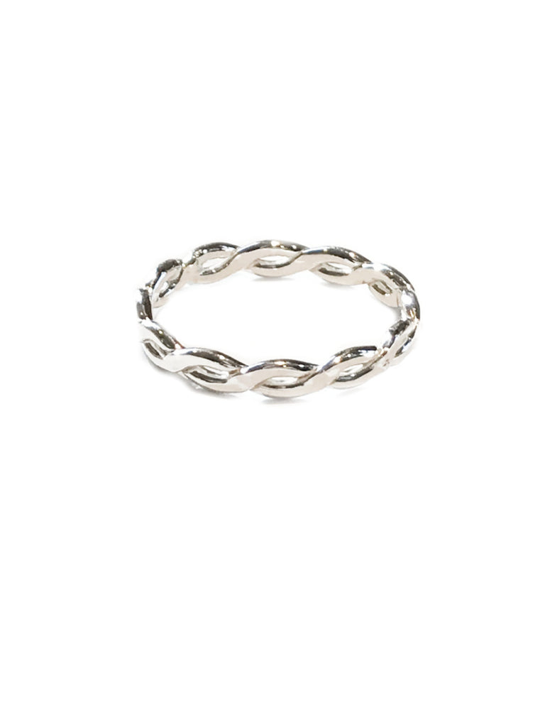 Thick Twisted Band | Sterling Silver Ring Size 5 6 7 8 9 10 | Light Years