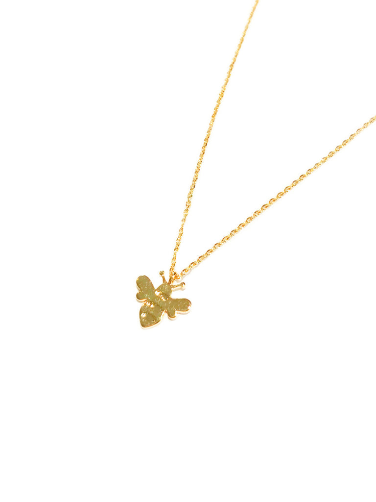Bumblebee Necklace | White Gold Plated Chain Pendant | Light Years