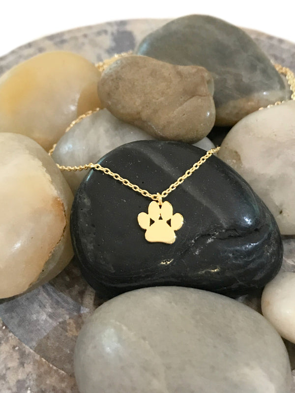 Paw Print Necklace | Gold Plated Fashion Chain Pendant | Light Years