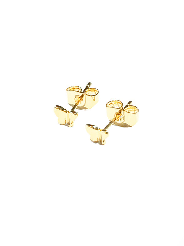 Small Folded Butterfly Posts | Gold Plated Studs Earrings | Light Years