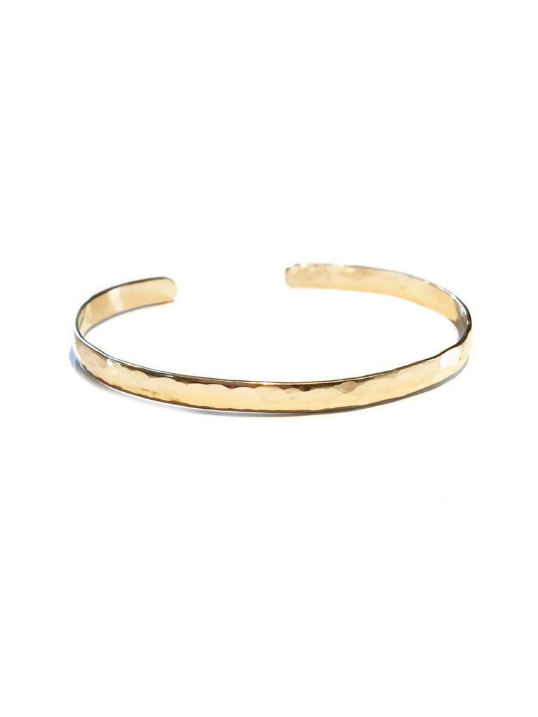 Handmade Hammered Cuff Bracelet | 14kt Gold Filled | Light Years Jewelry