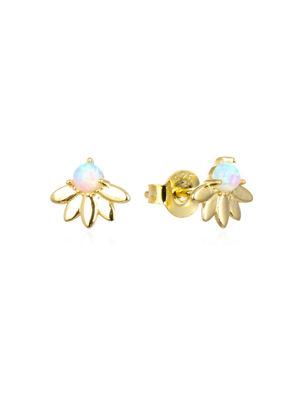 Opal Flower Posts | Gold Vermeil Sterling Silver Earrings | Light Years